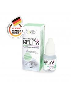 """Капли RELINS c декспантенолом 2 % и гиалуроновой кислотой 0,15% 10 мл., , 13.50 руб., RELINS 10 мл, ООО """"Доктор Клаус""""(РБ), Увлажняющие капли для линз"""